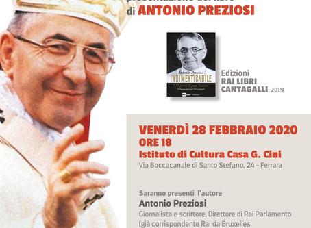 """Il """"Papa del sorriso"""":  a Ferrara il libro sui 33 giorni di Papa Luciani"""
