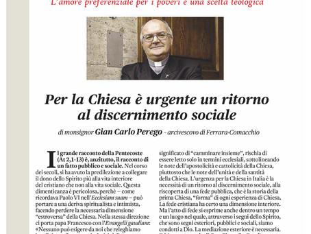 """""""Per la Chiesa è urgente un ritorno al discernimento sociale"""": mons. Perego su """"Vita Pastorale"""""""