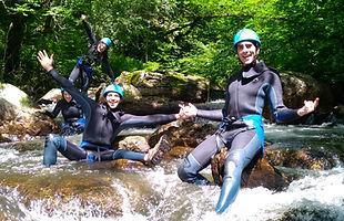 canyoning, rando aquatique, gorges du banquet, montagne noire, PNR Haut Languedoc, Tarn (81)