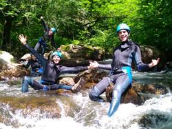 photo de groupe rivière
