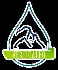 logo verticaleo, gotte d'eau et montagne