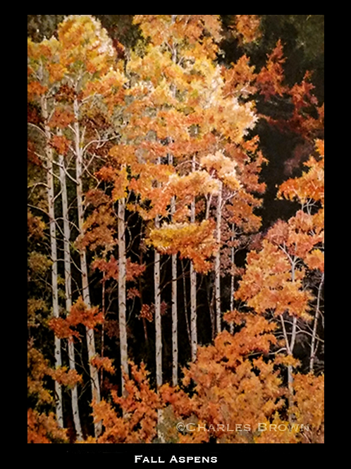"""Fall Aspens"" - 16"" x 20"" Original Mixed Media"