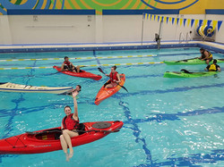kayak training in the pool