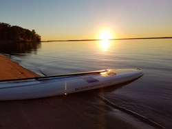 sunset paddleboard