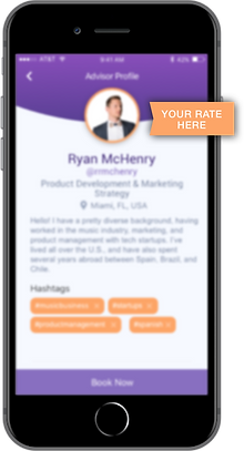 Setting your own rate on Pruuf microconsulting