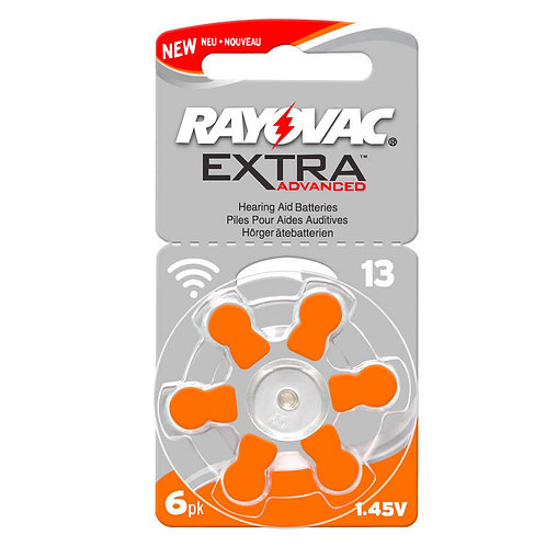 Hearing Aid Batteries Size P13 (Orange)