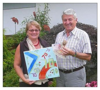 1.500,00 € für die Kinderkrebshilfe Ebersberg    Anton Schipf wünschte sich anlässlich seines 70. Geburtstags