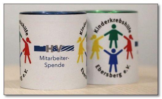 Zwei Spendentassen bei Weihnachtsfeier erbringen stolze 260,00 € für die Kinderkrebshilfe Ebersberg e.V.