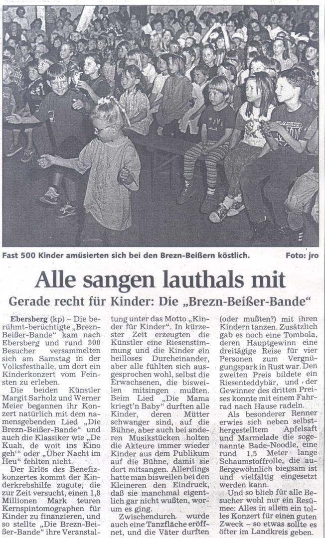 """Werner Meier mit der """"Brezn-Beißer-Bande"""""""