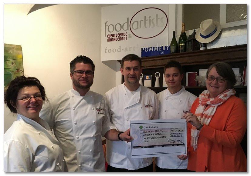 food artists aus Zorneding spenden 1.000 € an die Kinderkrebshilfe Ebersberg e.V.