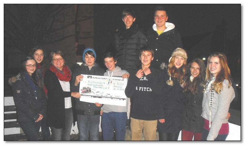 Anzinger Firmgruppe spendet 300,00 € an die Kinderkrebshilfe Ebersberg e.V.