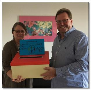 Rainer Bonetsmüller aus Tulling spendete anlässlich seines 50. Geburtstags sagenhafte 6.000,00 € an die Kinderkrebshilfe Ebersberg e.V.