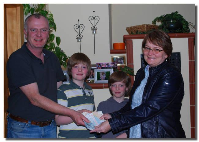 Gottfried Harttung spendete der Kinderkrebshilfe Ebersberg anlässlich seines 50. Geburtstags 2.160 Euro