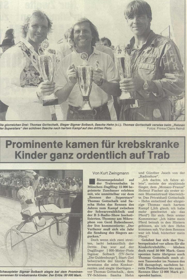 Thomas Gottschalk, Sigmar Solbach, Sascha Hehn u.v.m.