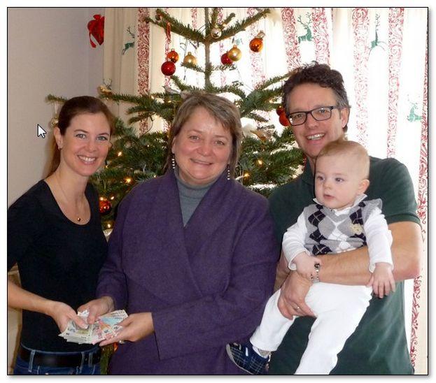 Glühweinfest mit Spendenaktion der Familie Moser