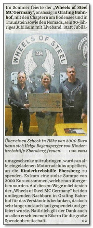 "30jähriges Jubiläum der ""Wheels of Steel MC Germany"""
