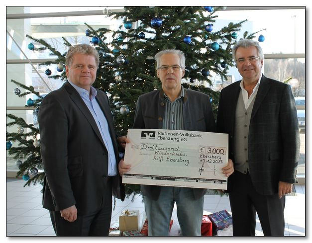 Autohaus Ebersberg und Auto Grill spenden erneut 3.000,00 € an die Kinderkrebshilfe Ebersberg e.V.