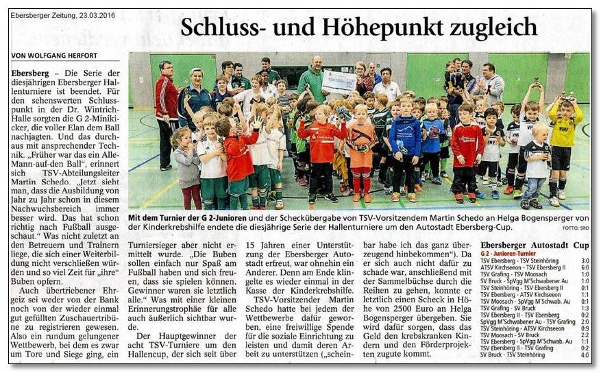 Dank der tatkräftigen Unterstützung des TSV Ebersberg