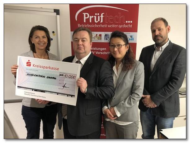 Großzügige Spende der Firma Prüftech GmbH