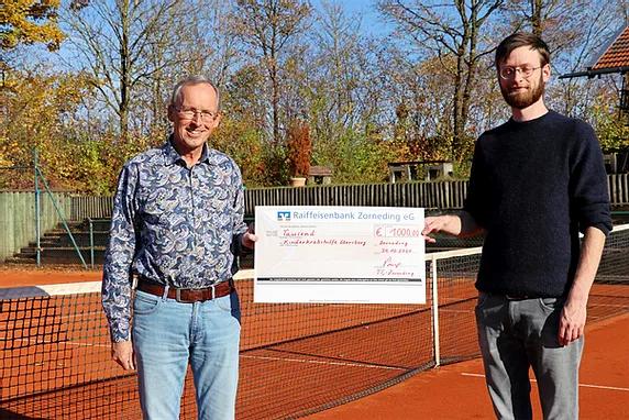 Tennisclub Zorneding e.V. spendet großartige 1.000 € an die Kinderkrebshilfe Ebersberg e.V.