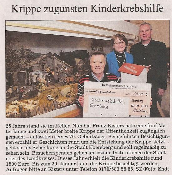 Krippenbauer Franz Kisters