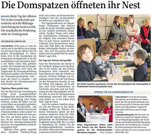 Domspatzen Pielenhofen spenden 1000,00 €