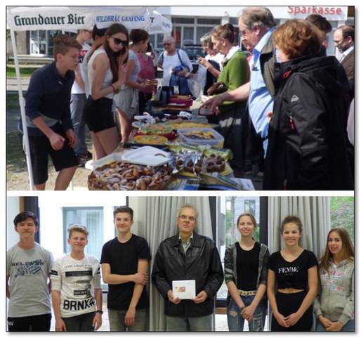 Aßlinger Firmlinge erzielen durch Kuchenverkauf die freudige Summe von 720,00 € für die Kinderkrebshilfe Ebersberg e.V.