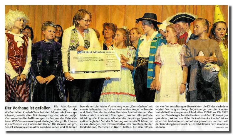Theater von Kindern für Kinder: Weißenfelder Kinderbühne