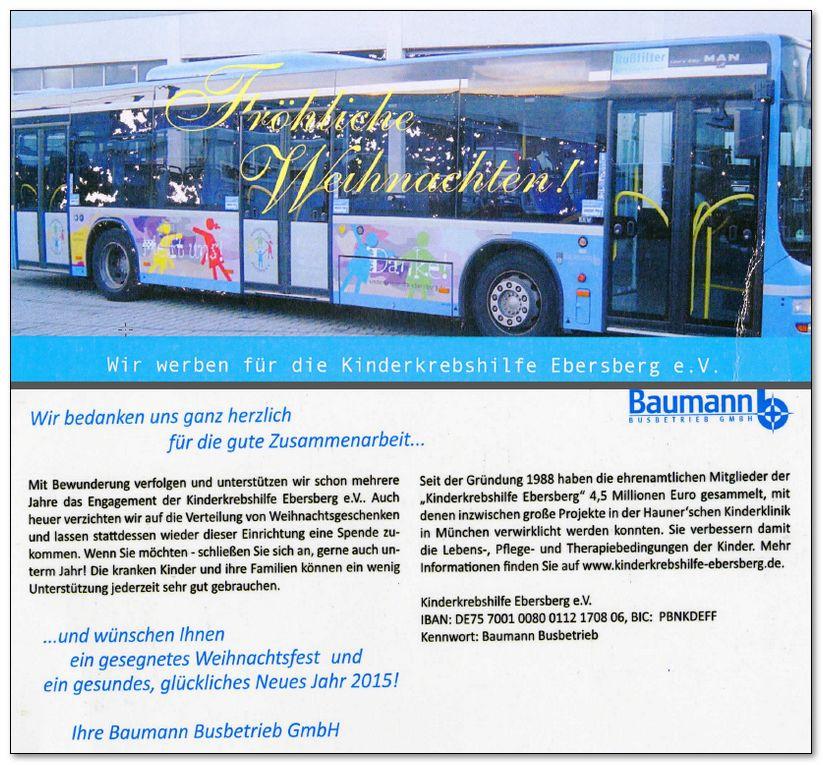 Busbetrieb Baumann unterstützt!!!