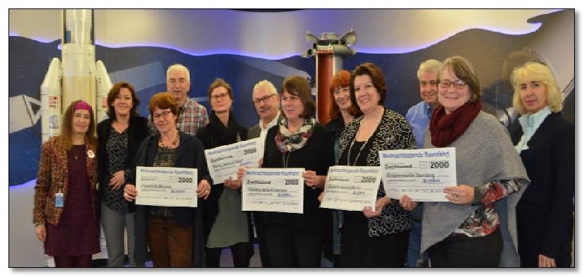 Mitarbeiter von Airbus helfen der Kinderkrebshilfe Ebersberg e.V. mit sagenhaften 2.000,00 €