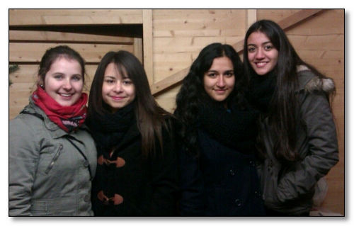 Vier junge Damen