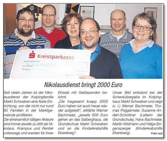 """""""Nikolausdienst der Kolpingfamilie Markt Schwaben"""""""