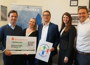 OMMAXspendet 5.000 € an die Kinderkrebshilfe Ebersberg e.V.