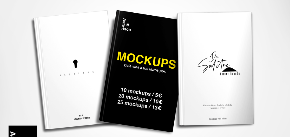 Mockups para libros