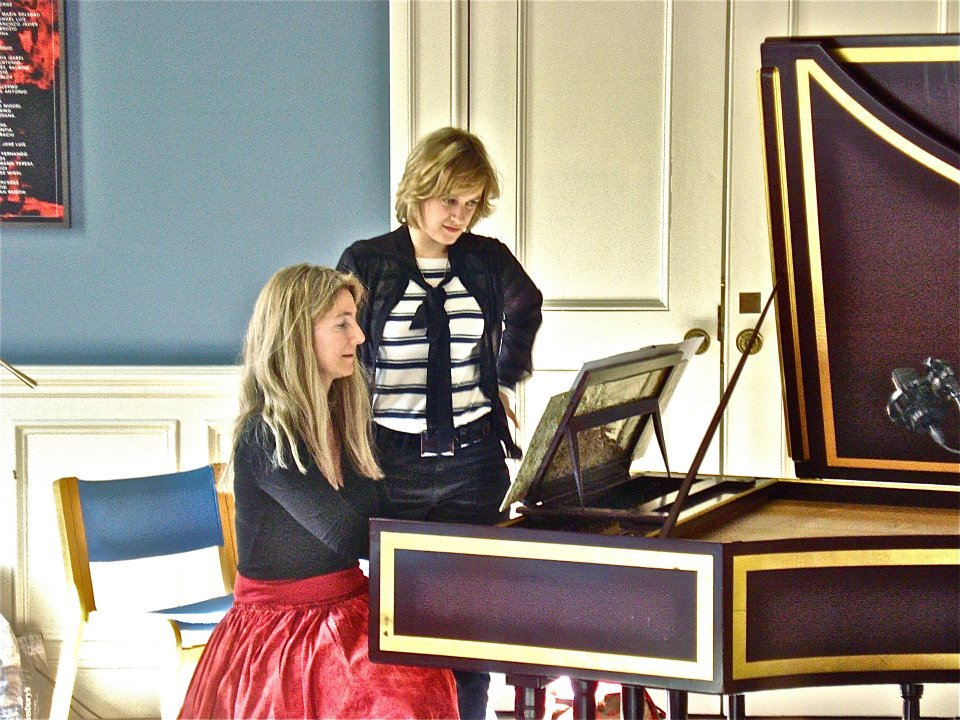 work with harpsichordist Jane Chapma