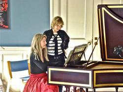 work with harpsichordist Jane Chapma