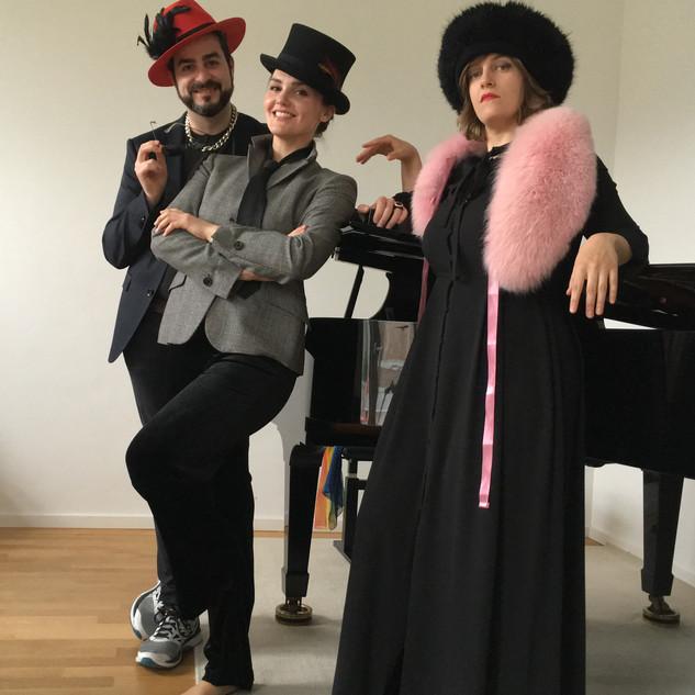 rehearsing my opera