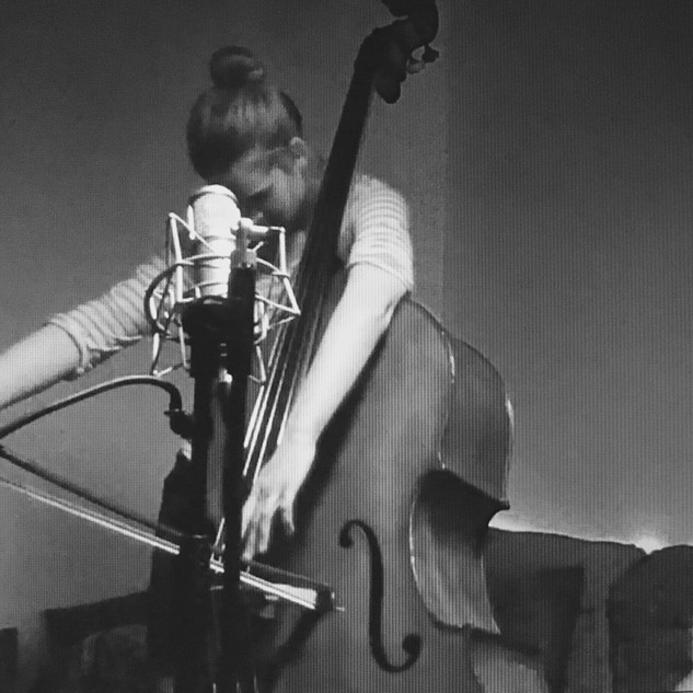 Recording session 'Song for Double Bass'