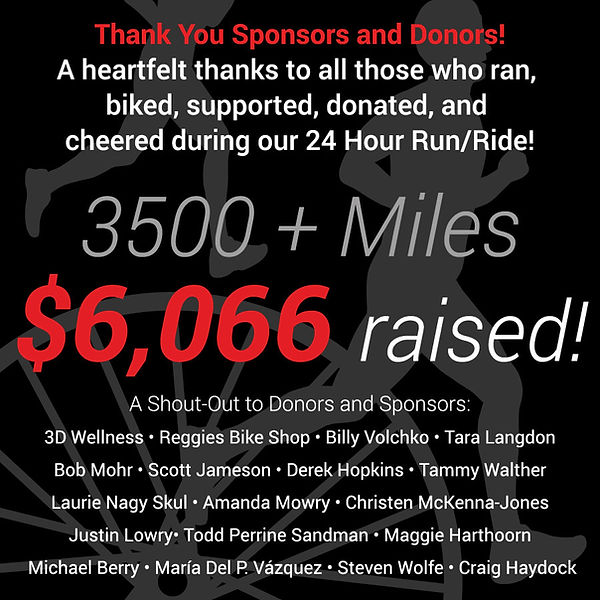 a shout out to donors and sponsors