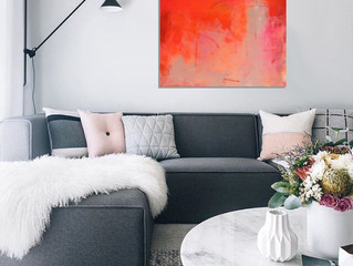 Orange Pink abstract for your living room