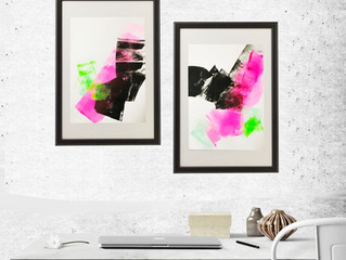 Modern abstract for workspace