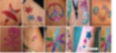 Glitter Tattoos $5 p/p