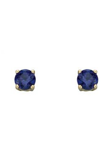 9ct Yellow Gold & Sapphire Stud Earrings
