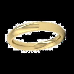 Ladies 18ct Yellow Gold Court Wedding Ring