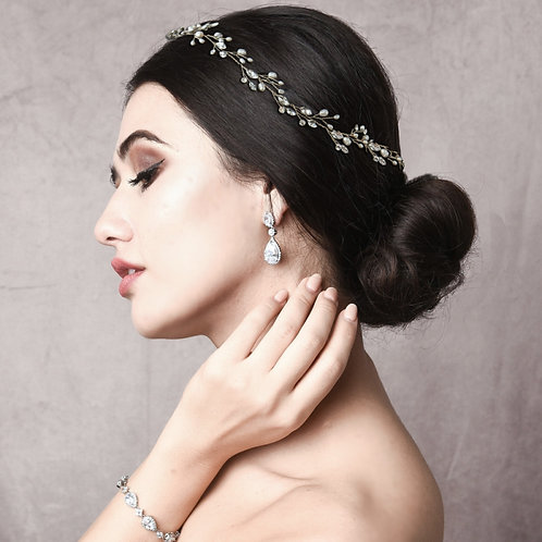 Bridal Hair Vine 'Classic Crystal' from The Athena Collection