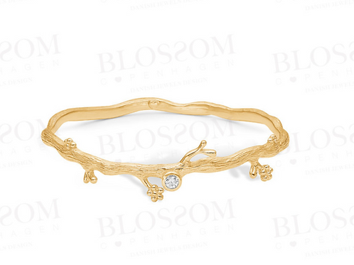 Blossom Gold Vermeil Branch Bangle
