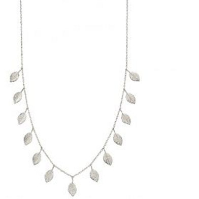 Sterling Silver Multi Leaf Necklace