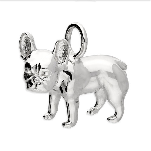 Sterling Silver Pendant French bulldog
