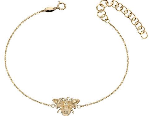 9ct Yellow Gold Bee Bracelet