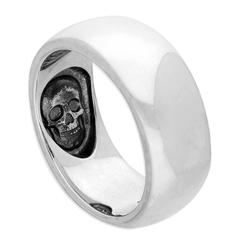 Silver Hidden His & Hers Skull Ring